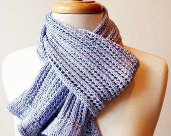 Knitting Pattern - Lace Scarf Knitting Pattern - Instant Electronic Download