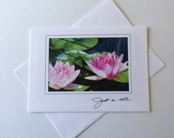 Sun Soaked Lily Photo Note Card Blank Inside Just a Note