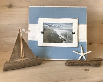 Nautical frame Coastal frame Beachy picture frame Rustic frame Coastal decor Mother's Day Gift Birthday Gift
