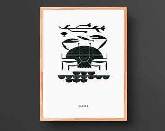 Cancer Letterpress Print