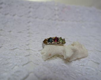 FLORENCE silver ring and T54 tourmalines, 5