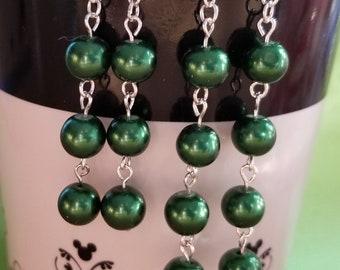 Green Pearl Dangles-2 Sizes