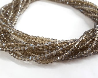 3mm Chinese Crystals Rondelles Shiny Finish 15.5""