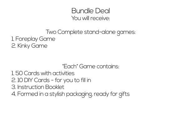 Foreplay and Kinky Bundle, naughty coupons, sex games, sex cards, adult  games, sexy gift for boyfriend, anniversary gift, bdsm gift for him
