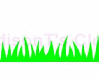 Grass Lawn Landscape Border Scrapbook SVG Cutting Digital File Only