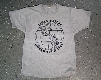 James Taylor World Tour 1987 Screen Stars T Shirt (Medium)