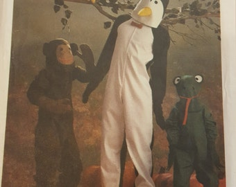 Child Penguin Monkey Frog Costume with Hood 6 8 Simplicity 6670