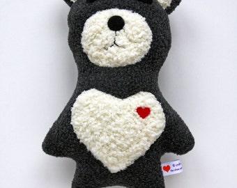 Grey and Yellow Bear - Stuffie - Stuffed Animal - Plushie