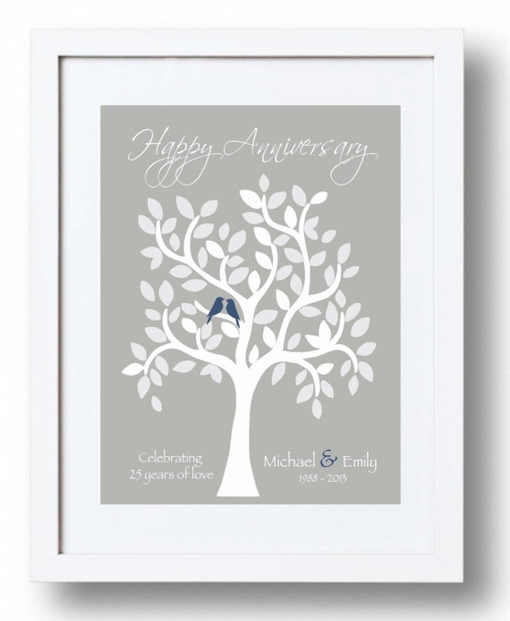 25th Wedding Anniversary Gift For Parents: 25th Anniversary Gift For Parents 25th Silver Anniversary