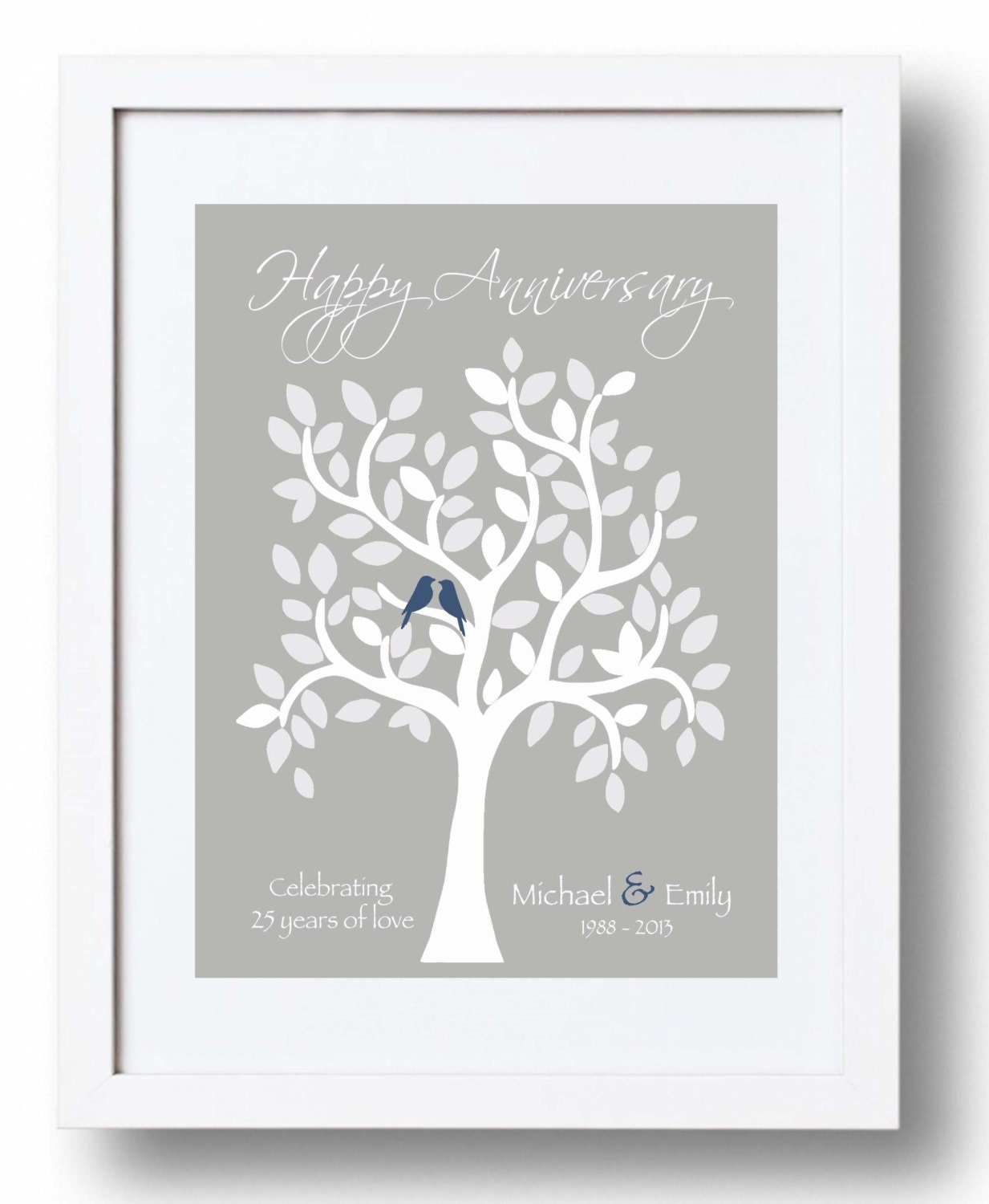 25th Anniversary Gift For Parents 25th Silver Anniversary