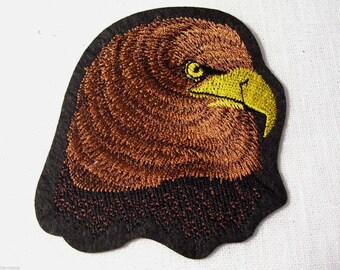 HEAD hawk eagle Royal - brown patch embroidered patch Thermo * 8 x 9 cm *.