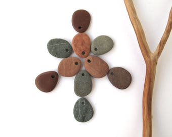 Natural Rock Beads Small Mediterranean Beach Stone DIY Jewelry Making Beads Natural Stone Rock Beads River Stone Beads TERRA MIX 18-20 mm