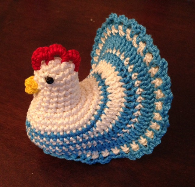 Crochet Pattern Decoration Easter Chicken Eggs Cover