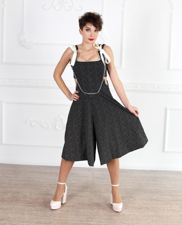 Schwarzer Overall Womens Overall Maxi-Kleid Plus Größe