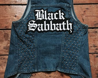 "Levis Vintage ""Black Sabbath"" Studded Vest"
