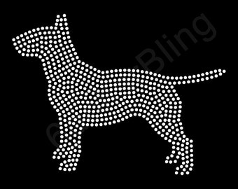 Staffordshire Bull Terrier Dog Breed Rhinestone Iron-on Crystal Bling Transfer Hot Fix Applique - Make Your Own Shirt DIY!