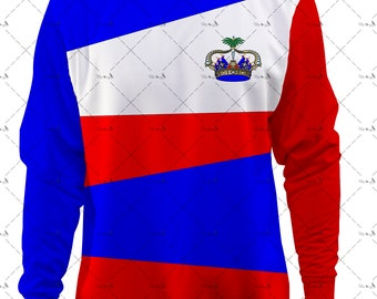 Crewneck Haiti Parfais for mother of the Haitian flag or the indepence day
