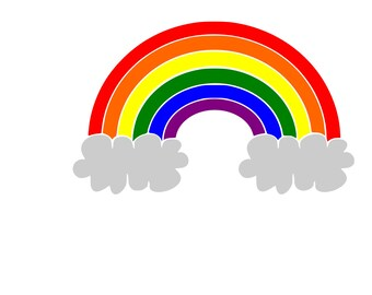 Rainbow SVG / Cut File / Cricut / Silhouette /  Cameo / paper crafting / paper cutting