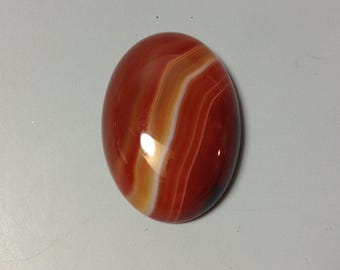 Red Agate with line cabochon 18x25mm
