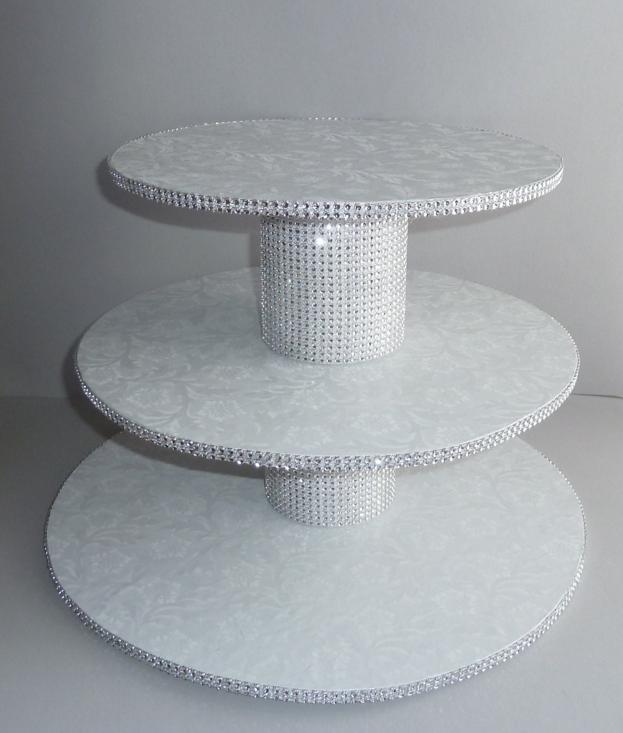 diy 3 tier wedding cake stand 3 tier bling white wedding cake cupcake stand tower display 13603