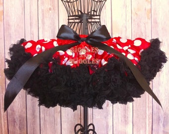 Baby girl skirt, minnie mouse birthday outfit, mouse birthday, red and white polka dot skirt, baby girl tutu, girls skirt, birthday outfit