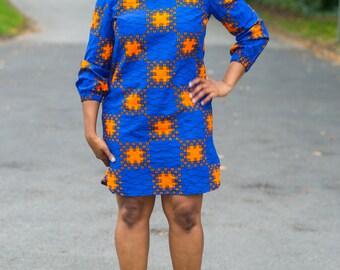 Ankara Dress, african print dress, dress, midi dress,m