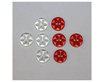 40 x buttons basic Star 2 holes set c *-000837