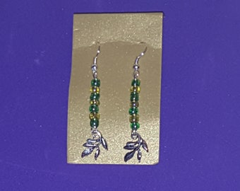 Green Leafy Earrings