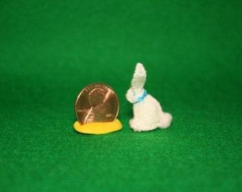 Tiny bunny plushie- wool felt.