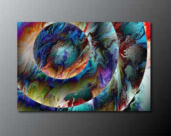 Art Print: Conjunction; abstract fluid art acrylic pour painting; wall art print; housewarming gift