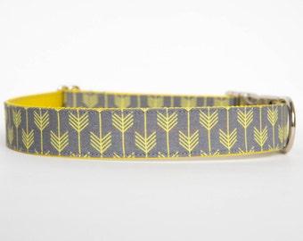 Dog Collar - Grey/Yellow Camp Dog