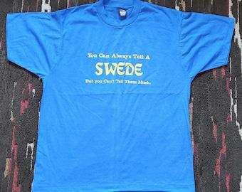 Screen Stars Best Vintage 80's 90's Swede Sarcastic T-shirt XL
