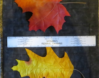Big fall leaves,Oak or Maple,6/pkg,large,single accent leaves,indoor use,autumn earth tones,Fall,florals