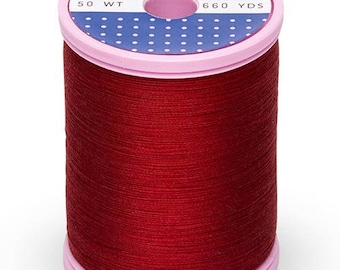 Cabernet Red Sulky Cotton + Steel Thread, 0169, Cotton Sewing Thread 660 Yds