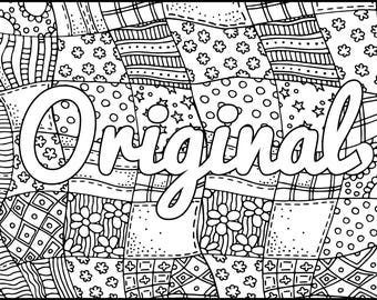 Positive Coloring Page Radiant Inspiring Adult Coloring Page
