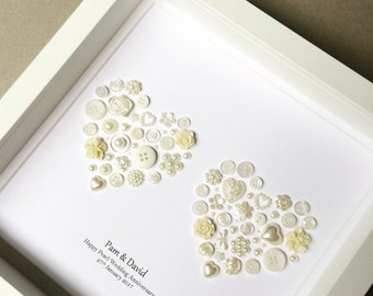 30th Wedding Anniversary, Pearl Wedding, Pearl Anniversary, 30th Anniversary, Keepsake, Pearl Art, 30 years married, Anniversary Gift