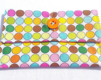 Buttoned Fabric Cardholder