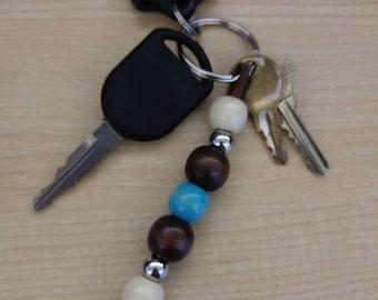 Wood Bead Keyring