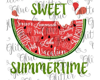 Sweet Summertime SVG with Extra Fonts!