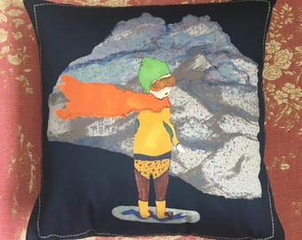 Snowboarder Cushion