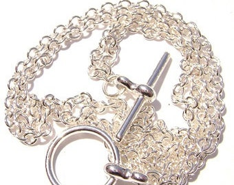 """Chain Necklace Handmade GOLD Toggle Clasp ALL SIZES 16"""" to 50"""" -  1 Qty"""