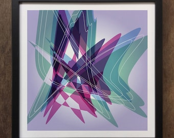 Abstract Colourful shapes Framed Art Print Geo-ART101