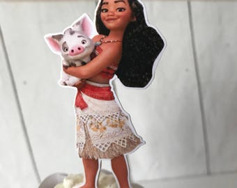 Moana cupcake toppers, Moana inspired party, Moana birthday, Moana tableware. Ct 12