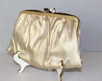 Beautiful, Vintage, Gold Lame Clutch
