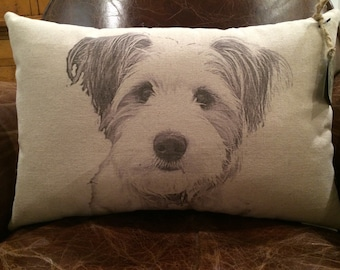 Personalized Pet Pillow on Canvas