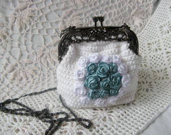 Ironing bag cosmetics evening bag wedding shabby decorative vintage Handgarbeit