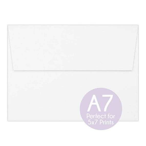 White a7 envelopes 5x7 invitation envelopes 5x7 white envelopes white a7 envelopes 5x7 invitation envelopes 5x7 white envelopes perfect for 5x7 photo cards and invitations a7 wedding envelopes from purpleberryink stopboris Image collections