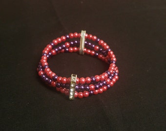 Pearl Bracelet, Pink Bracelet, Elastic Bracelet, Beaded Bracelet, Cuff Bracelet, Cute Bracelet, Gifts for girls, Gifts for woman,