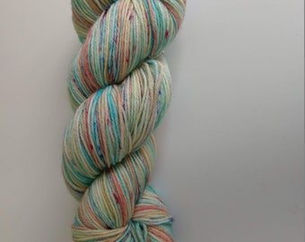 Sun, Sea and Sand hand dyed fingering weight yarn 100g