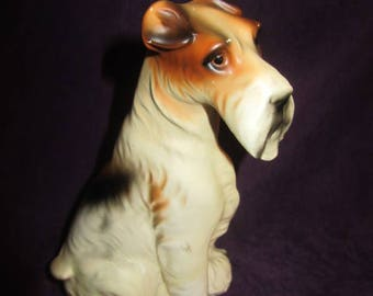 Wire Fox Terrier Ceramic Figurine